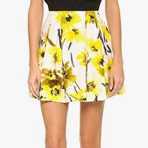 Alice + Olivia Conner Skirt Daisy Field All Over